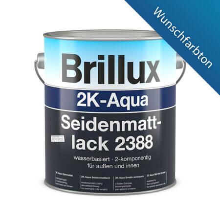 brillux 2k aqua seidenmattlack 2388 wunschfarbe g nstig im farben online shop. Black Bedroom Furniture Sets. Home Design Ideas